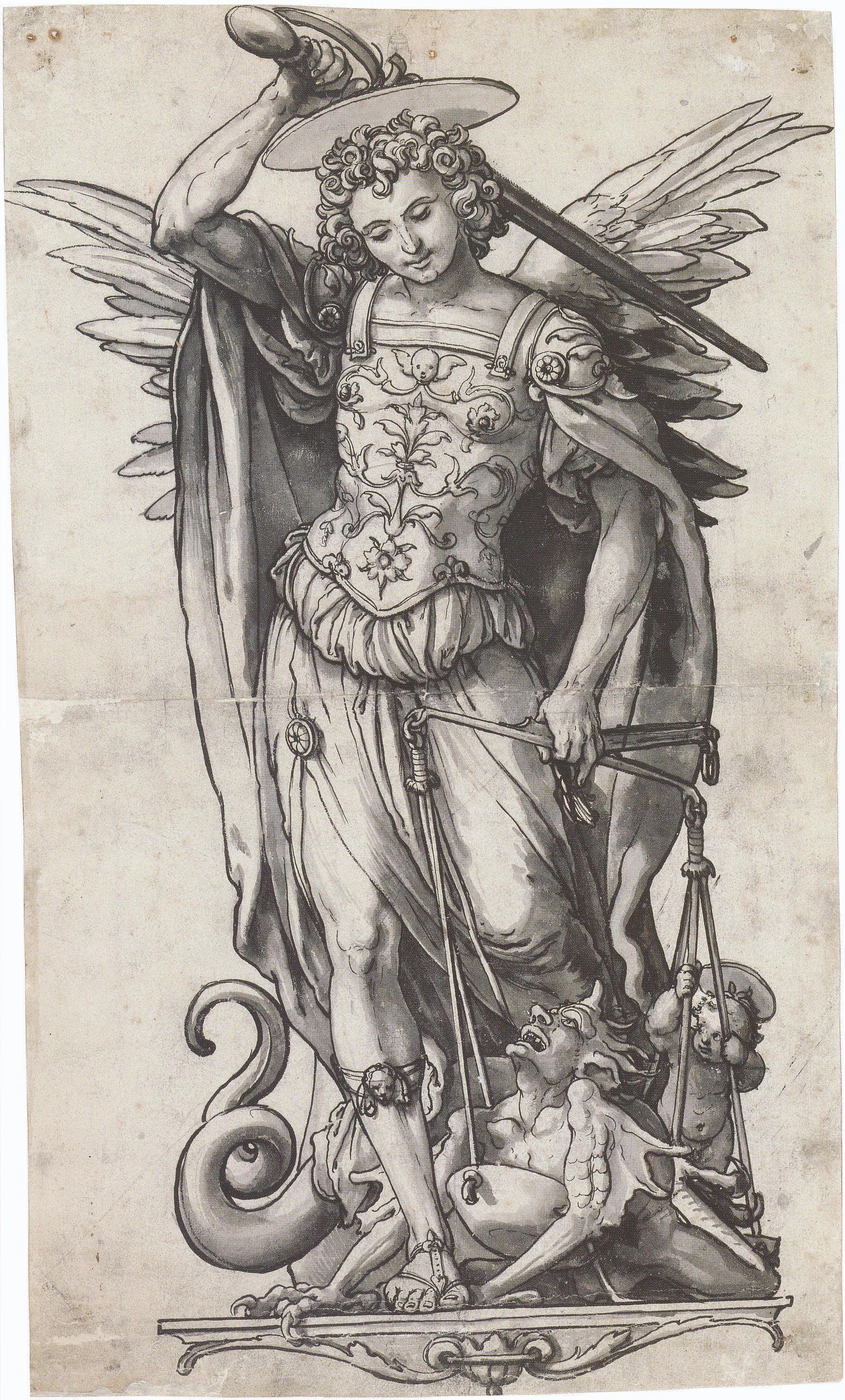 The Archangel Michael Weighing Souls. c.1523