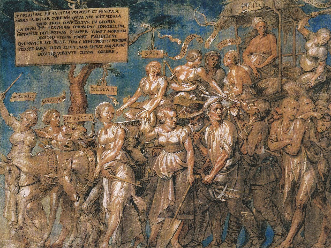 Triumph of Poverty. by Lucas Vorstermann the Elder, after Hans Holbein the Younger. 17th-century copy of lost original of 1532–34