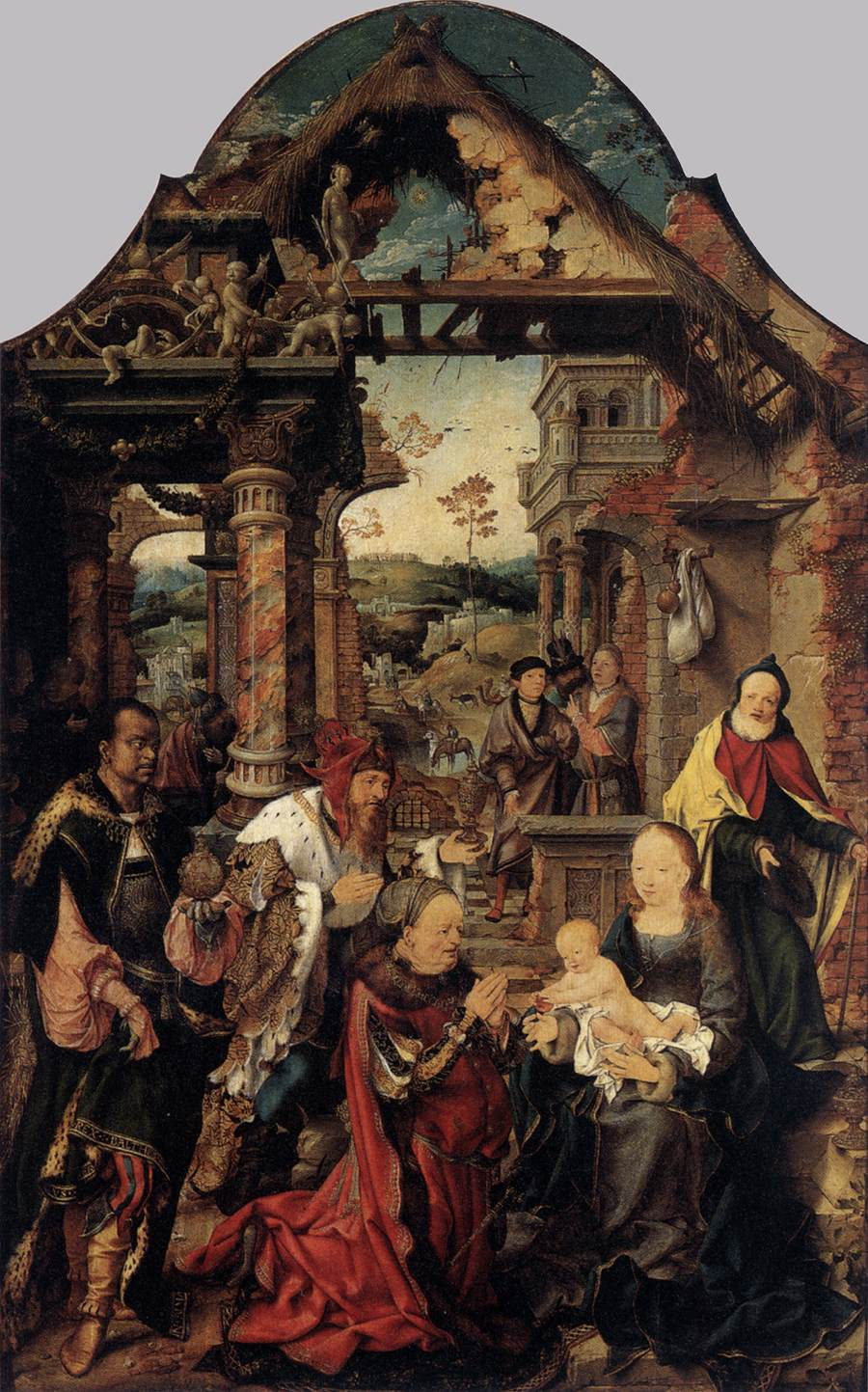 Adoration of the Kings (1517-1518) (110 x 71) (Dresden Gallery)