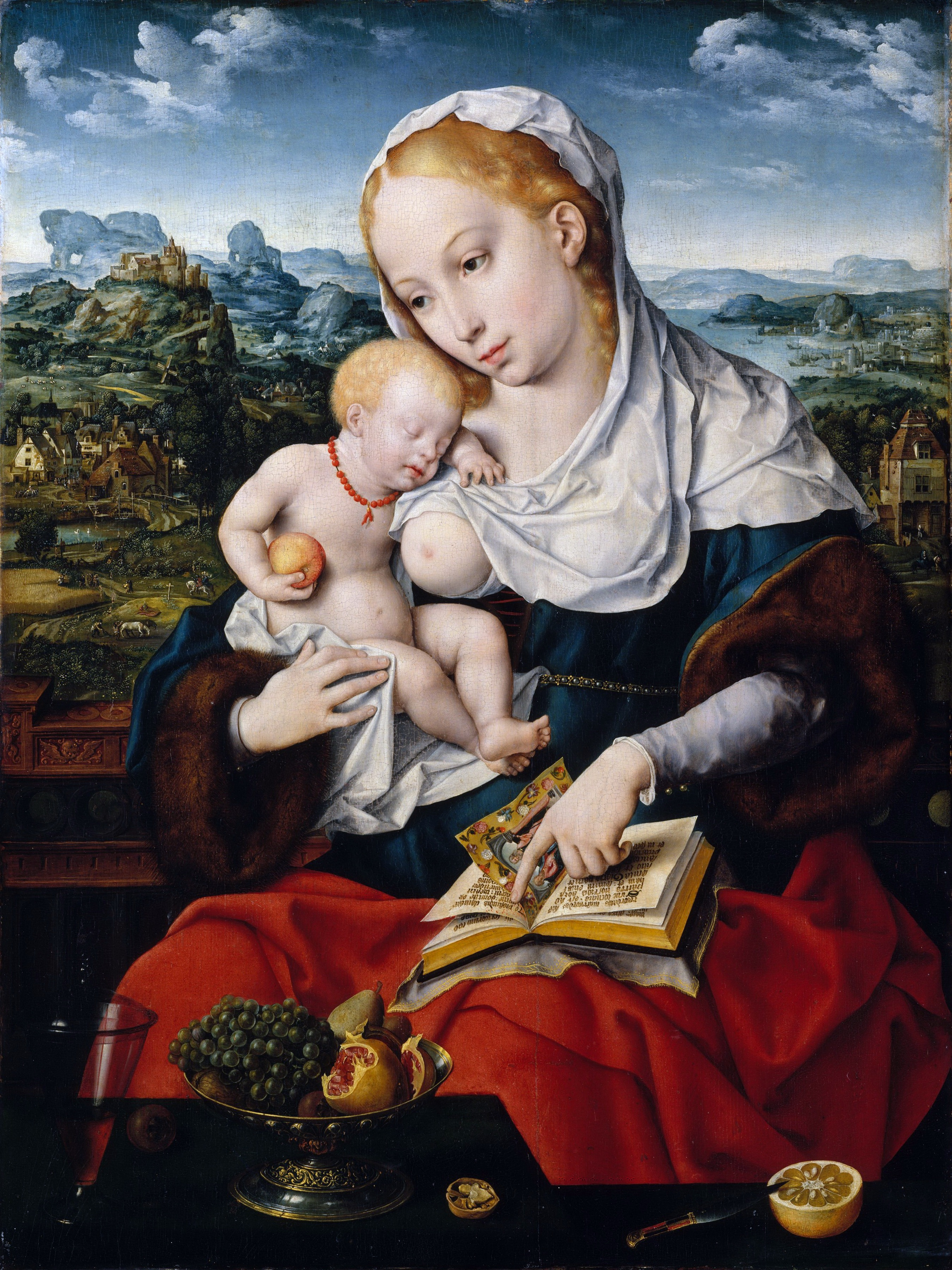 Madonna and Child (about 1525) (70.5 x 52.7) (New York, Metropolitan) (picture painted by an assistant)