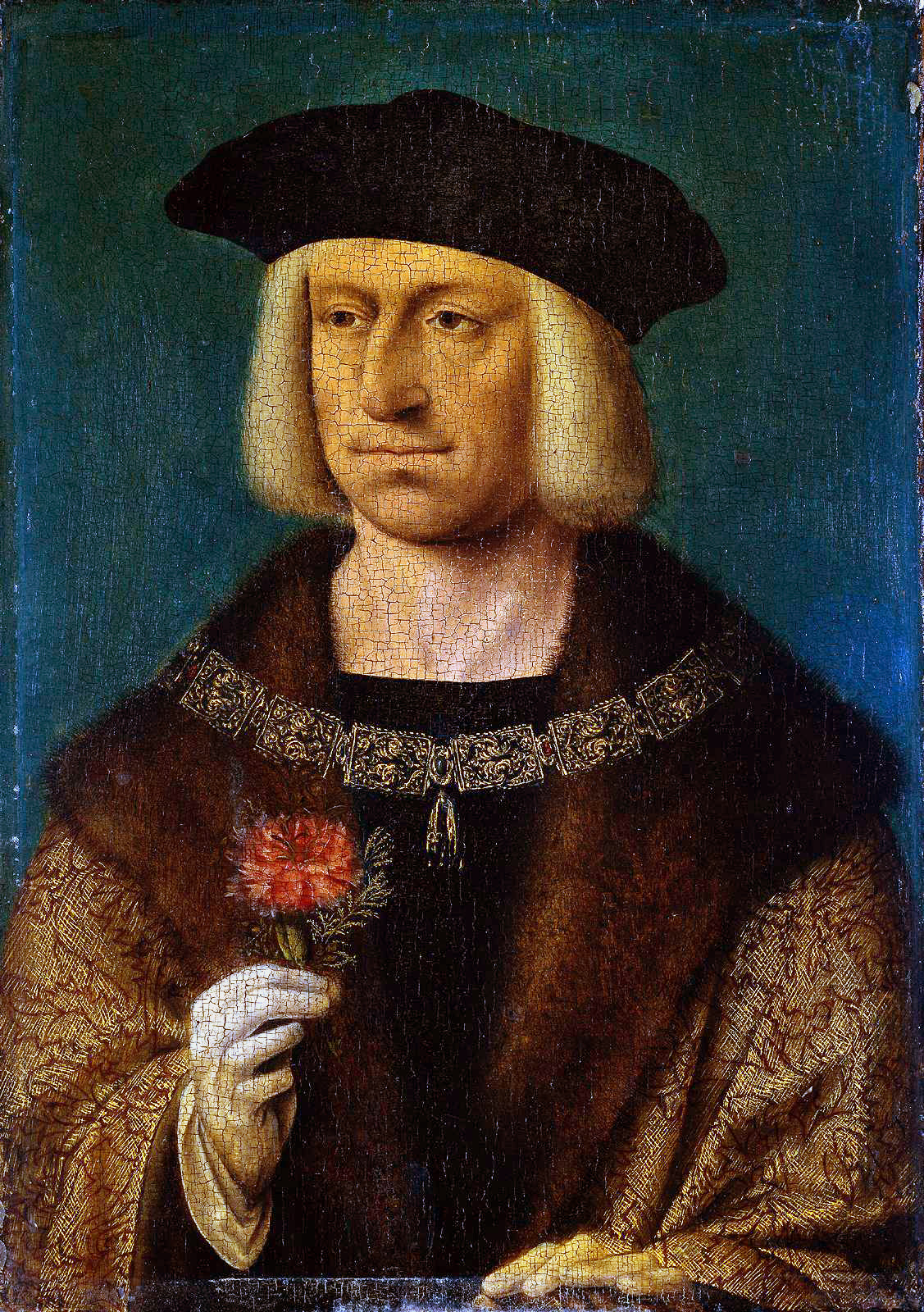 Portrait of Emperor Maximilian I (1459-1519), Holy Roman Emperor (1490) (34.3 x 24.2) (Amsterdam, The State. Museum)