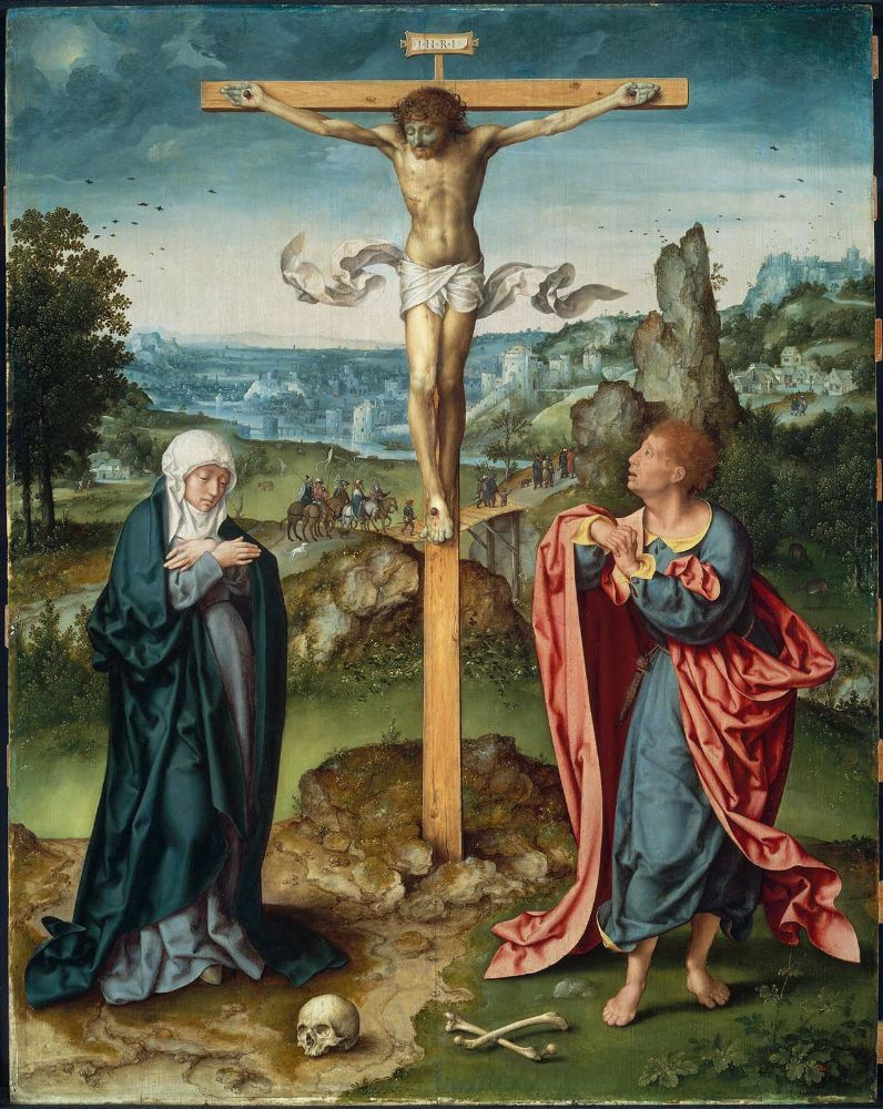 The Crucifixion with the Virgin Mary and St. John Evangelist (about 1525) (Boston, Museum of Fine Arts)
