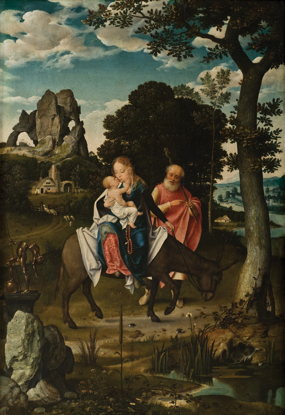 The Flight into Egypt (about 1520) (64.7 × 44.5) (Puerto Rico, Ponce Museum)