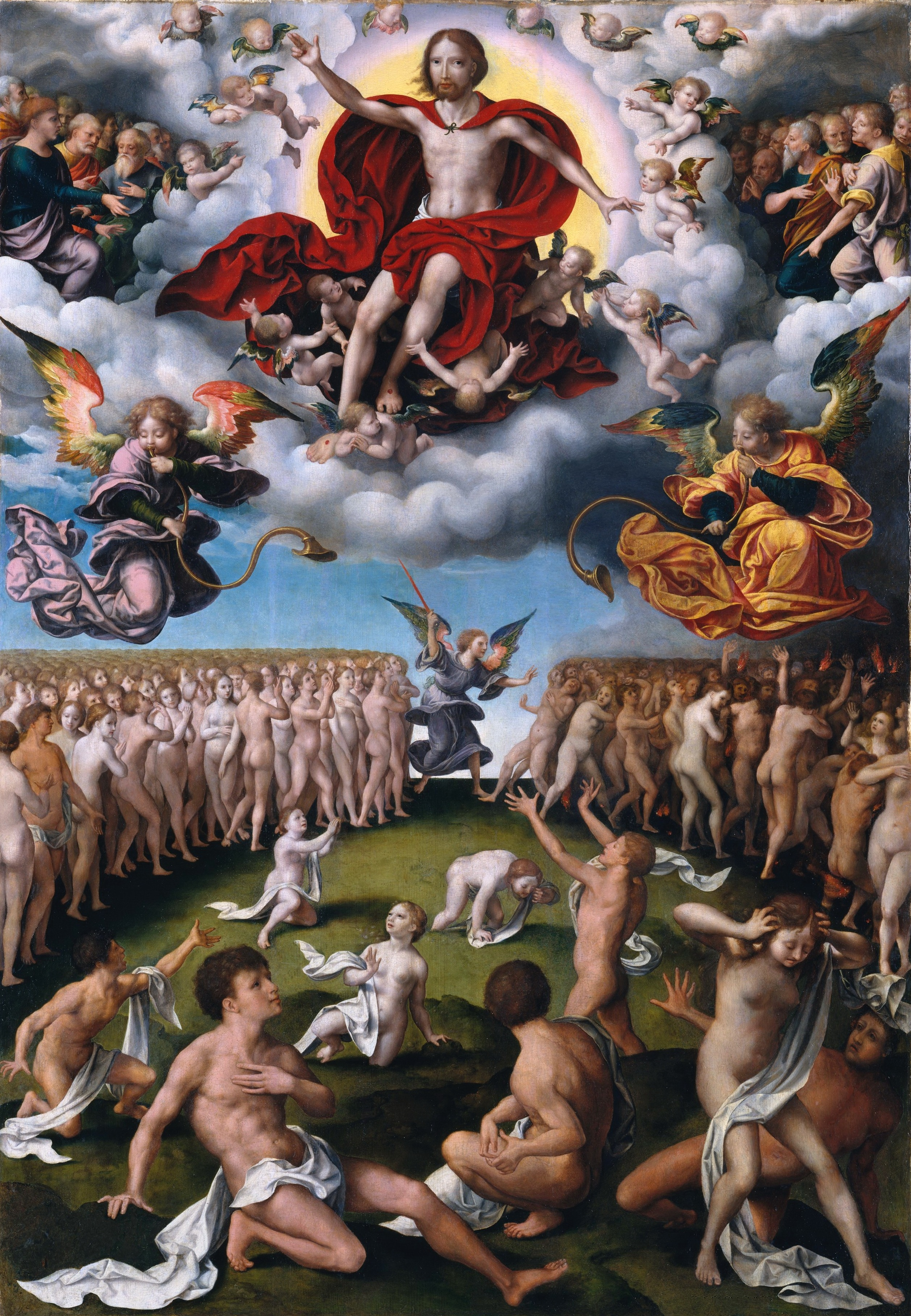 The Last Judgement (about 1520-1525) (123.8 x 86.4) (New York, Metropolitan)