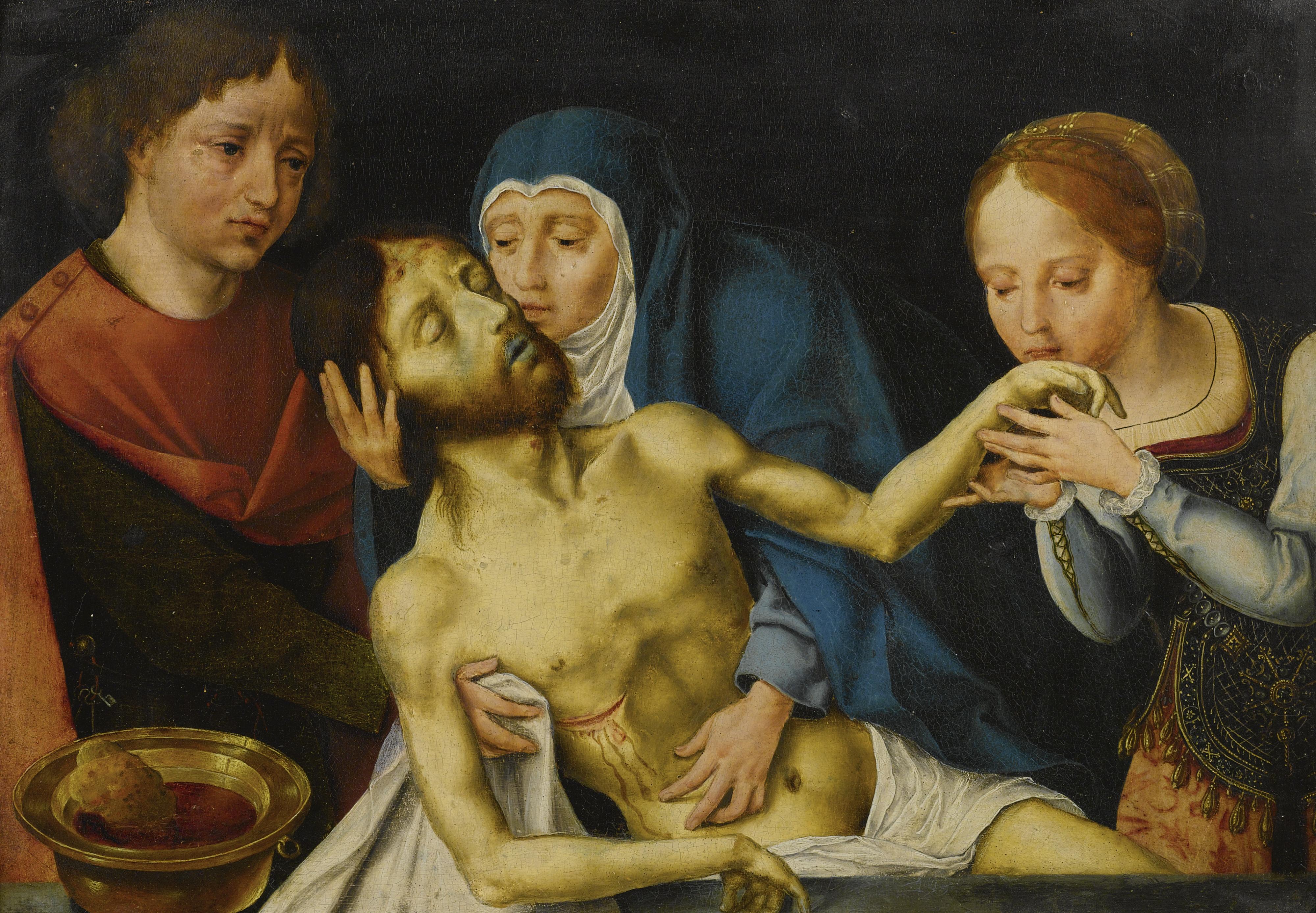 Follower Joos van Cleve. Lamentation of Christ (29 x 40)