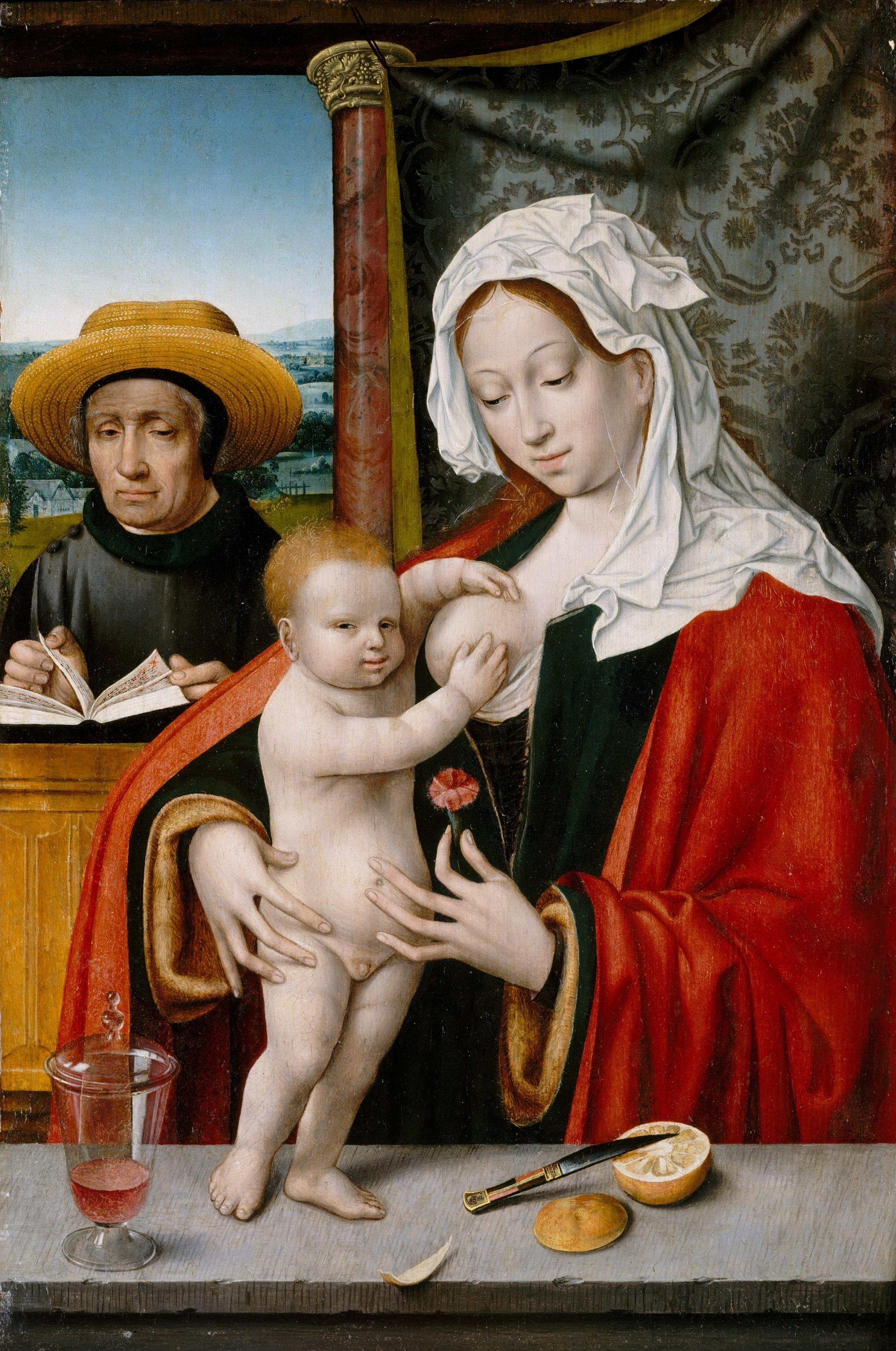 Workshop Joos van Cleve. Holy Family (1527-1533) (New York, Metropolitan)