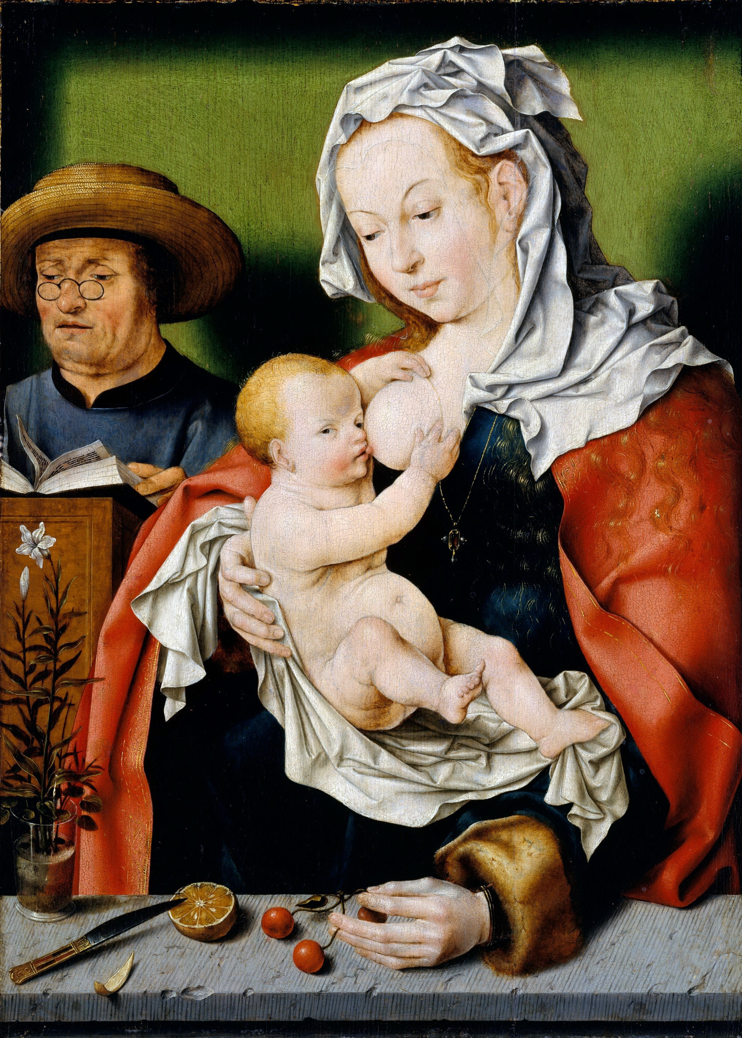 Workshop Joos van Cleve. Holy Family (about 1515) (51.8 x 37.1) (New York, Metropolitan)