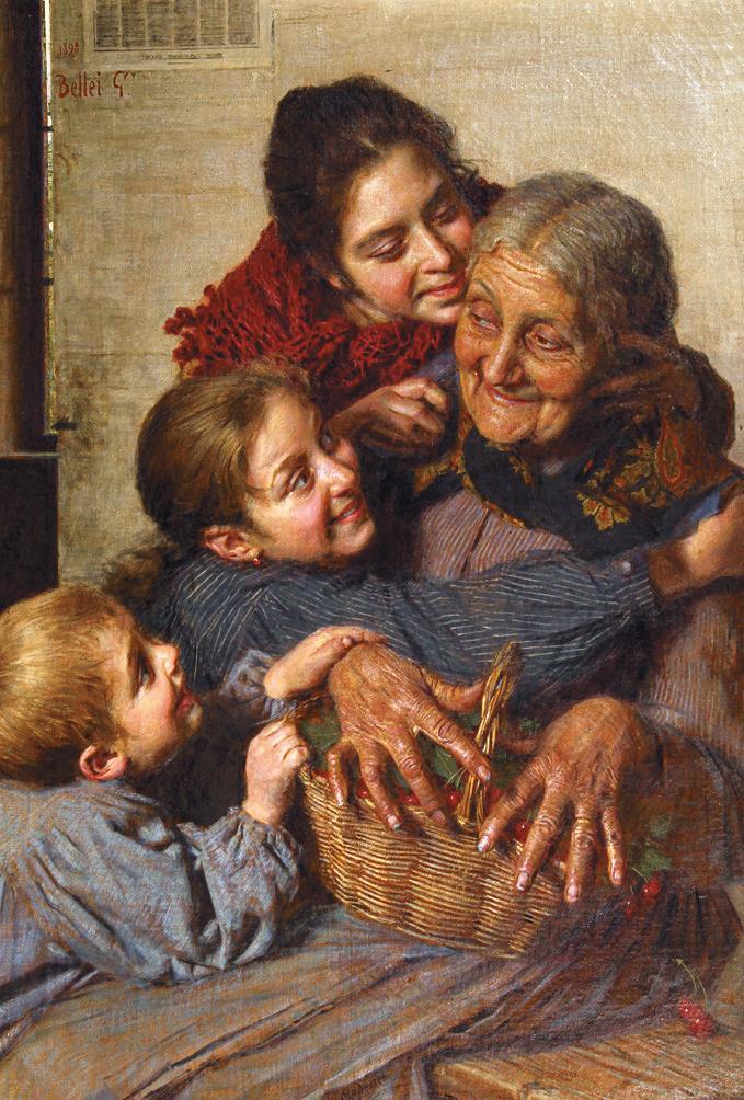 Grand-mère et ses petits