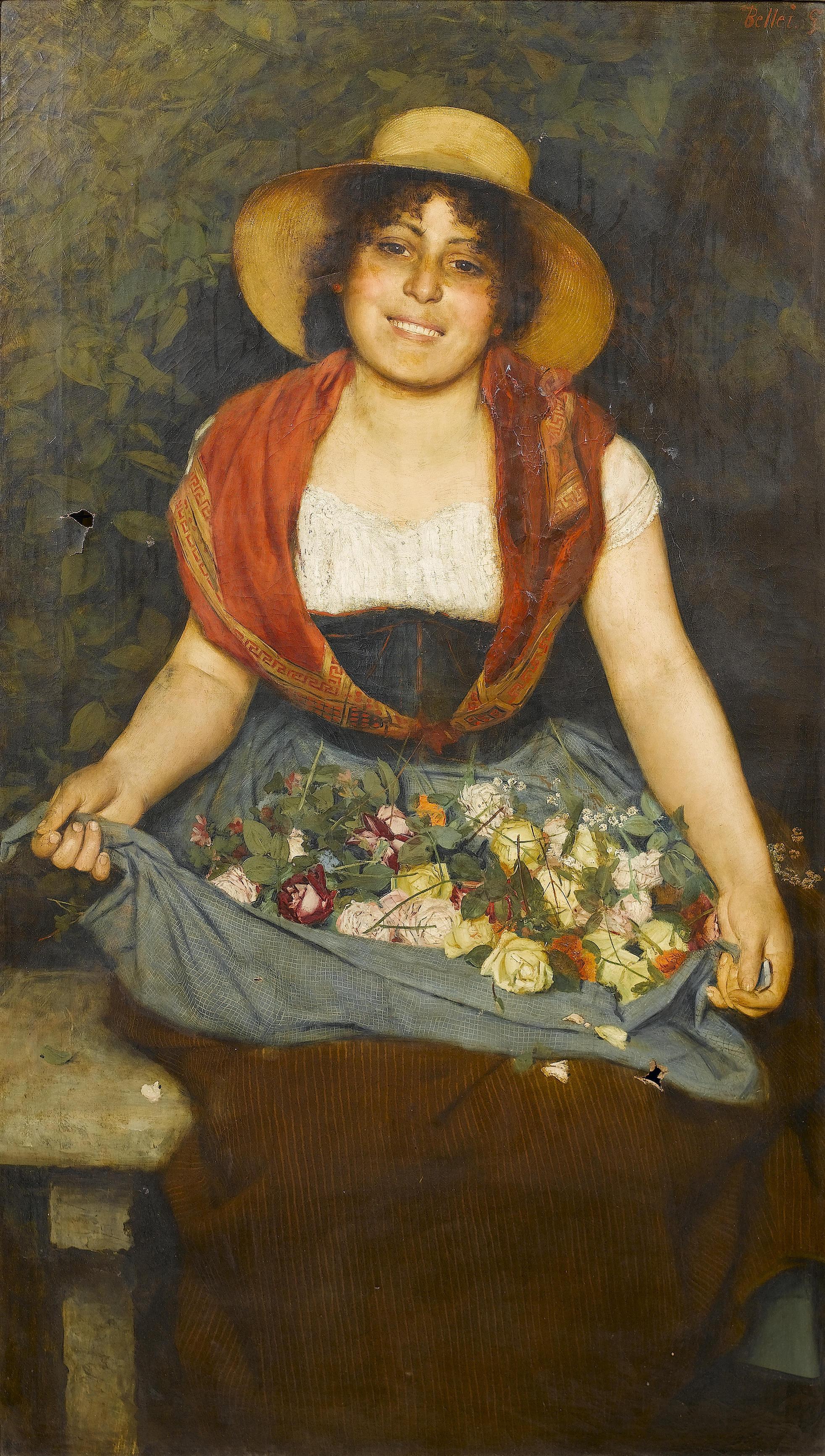 Tuscan flower girl