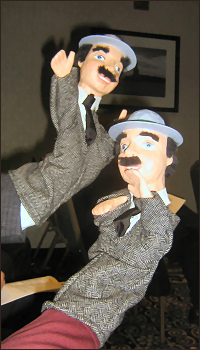 two of the Watson puppets