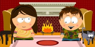 Phoenix and Elk, South Park style!