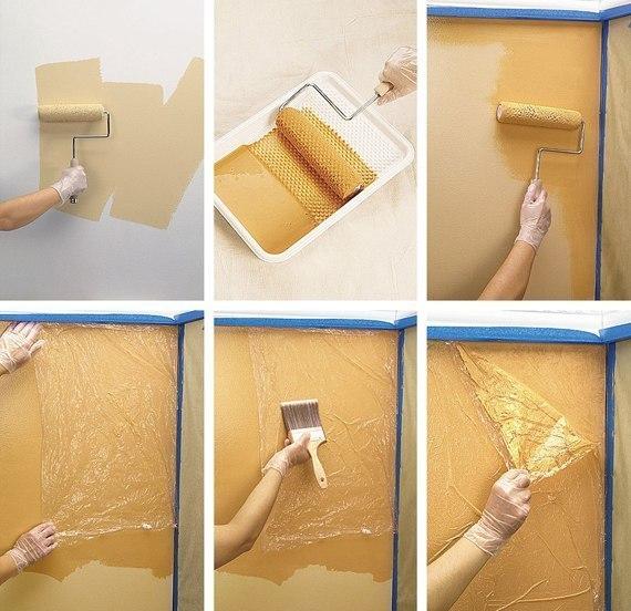 Окраска стен своими руками фото