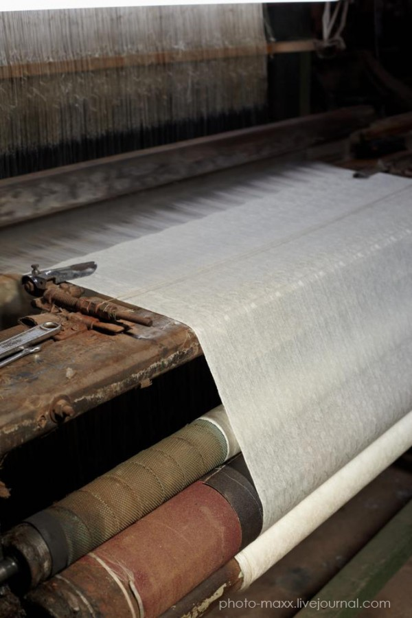 Silk fabric loom