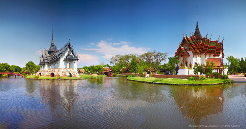 Panoramic-picture-thai-temple