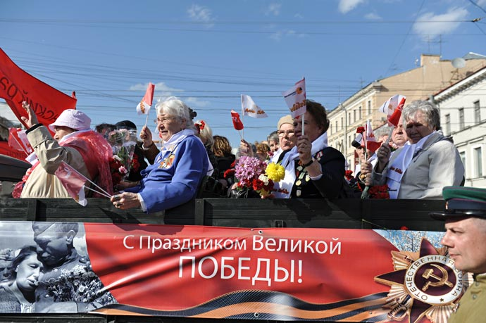 Парад ветеранов 2012 в Санкт-Петербурге