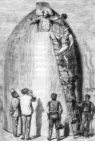 Иллюстрация к книге Жюля Верна «СЗемли на Луну», 1865г.
