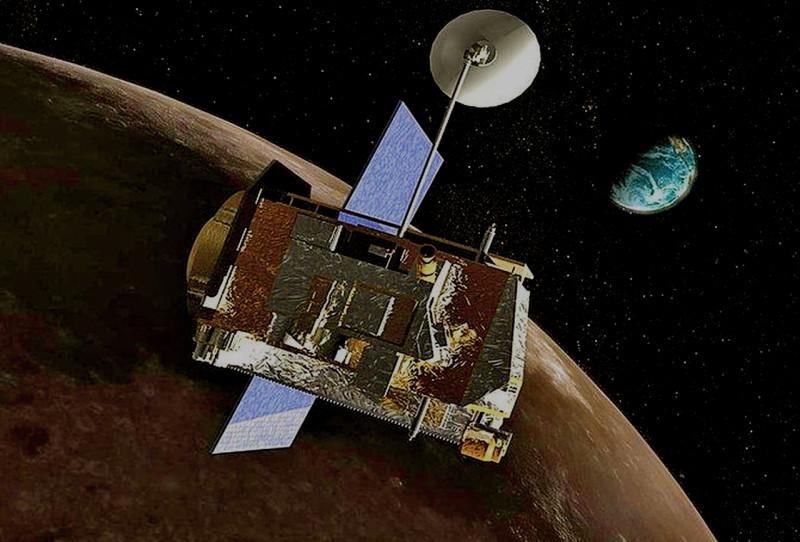 LRO на фоне Луны и Земли