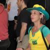 Sra. Baldwin dançando samba
