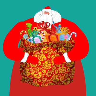 Дед Мороз в фотобанке Фотодженика