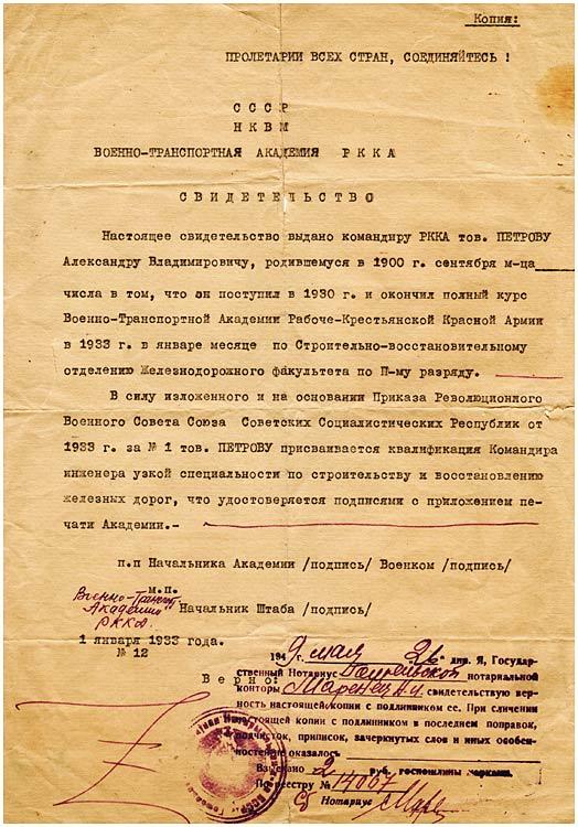 petrov-1933-academy