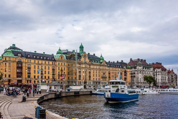 Бульвар Strandvägen. Стокгольм
