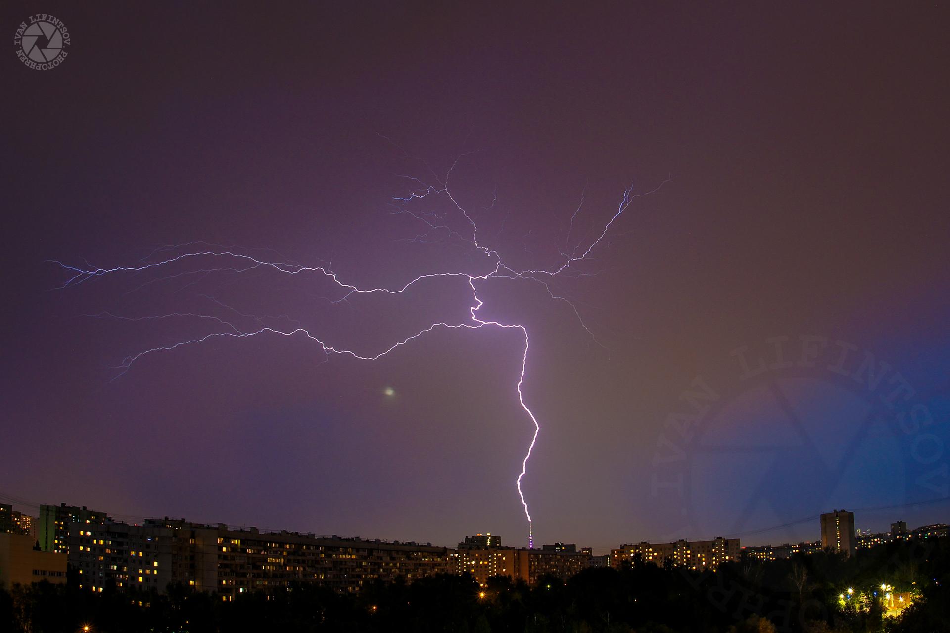 Как правильно сфотографировать молнию
