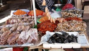 сушеные морепродукты.