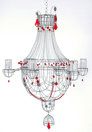 red-chandelier