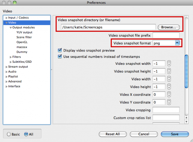 Take Snapshots (Screenshots) automatically with VLC: pibby — LiveJournal