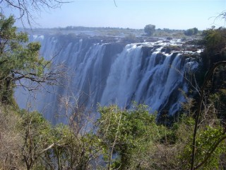 Victoria Falls from the Zambia side.