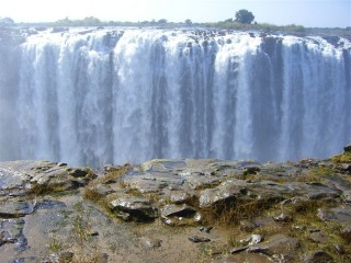 A small section of the falls from the Zimbabwe side.