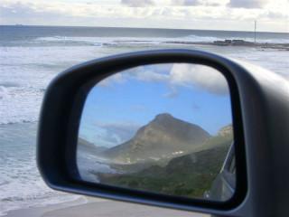 Looking forward and backward at the same time on the SA coast.