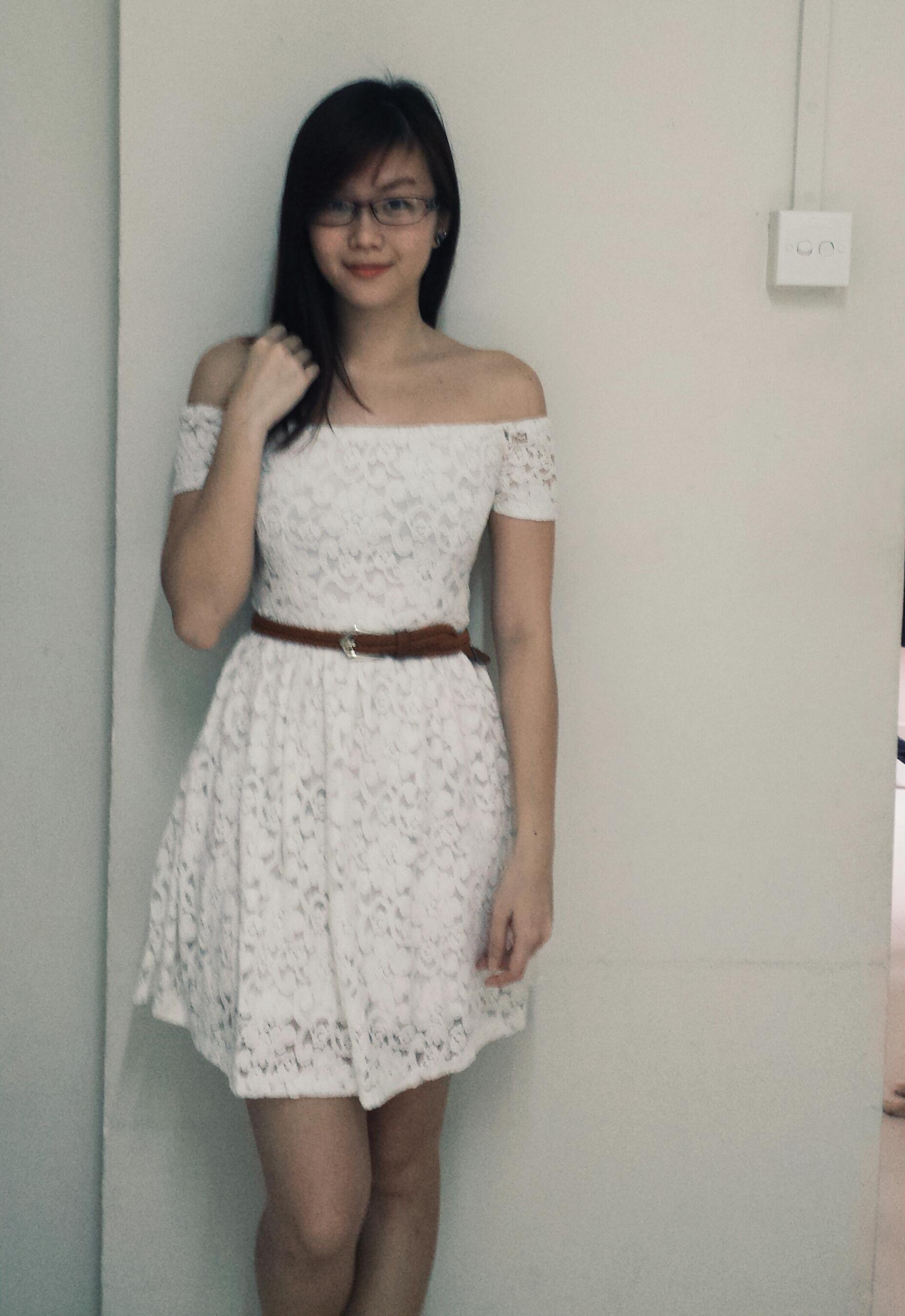 e4de973baa9a TTR Jingle Off-Shoulder Dress in Cream