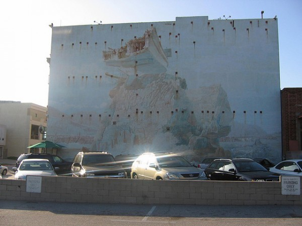 faded mural 43 years old