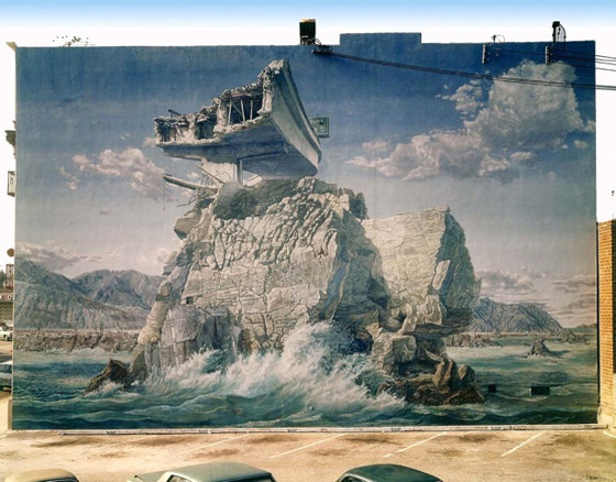 Victor Henderson and Terry Schoonhoven Isle of California (mural) 1971-72 Lyn Kienholz LA Rising
