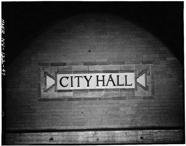 City Hall subway sign