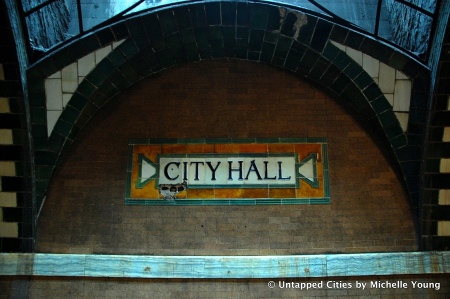 City Hall subway signC
