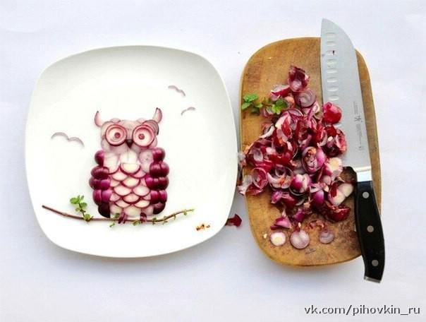 креативный салат из редиски