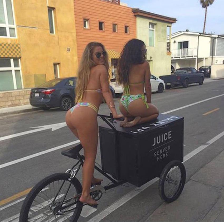 Сексуальные велосипедистки4