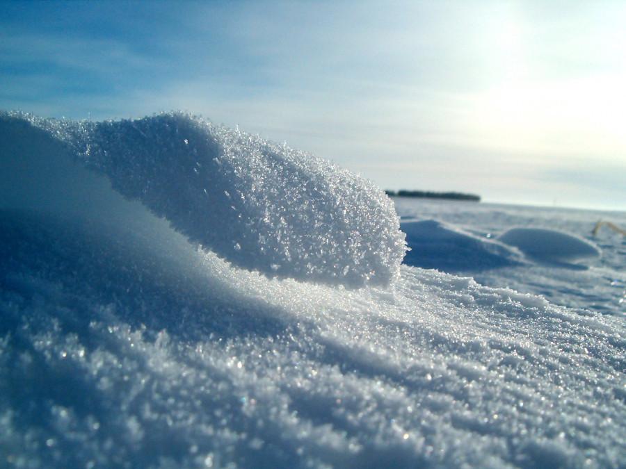 Снег на льду