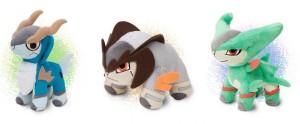 Pokemon Plush Pokedoll Cobalion Terrakion Virizion PokeCenJP