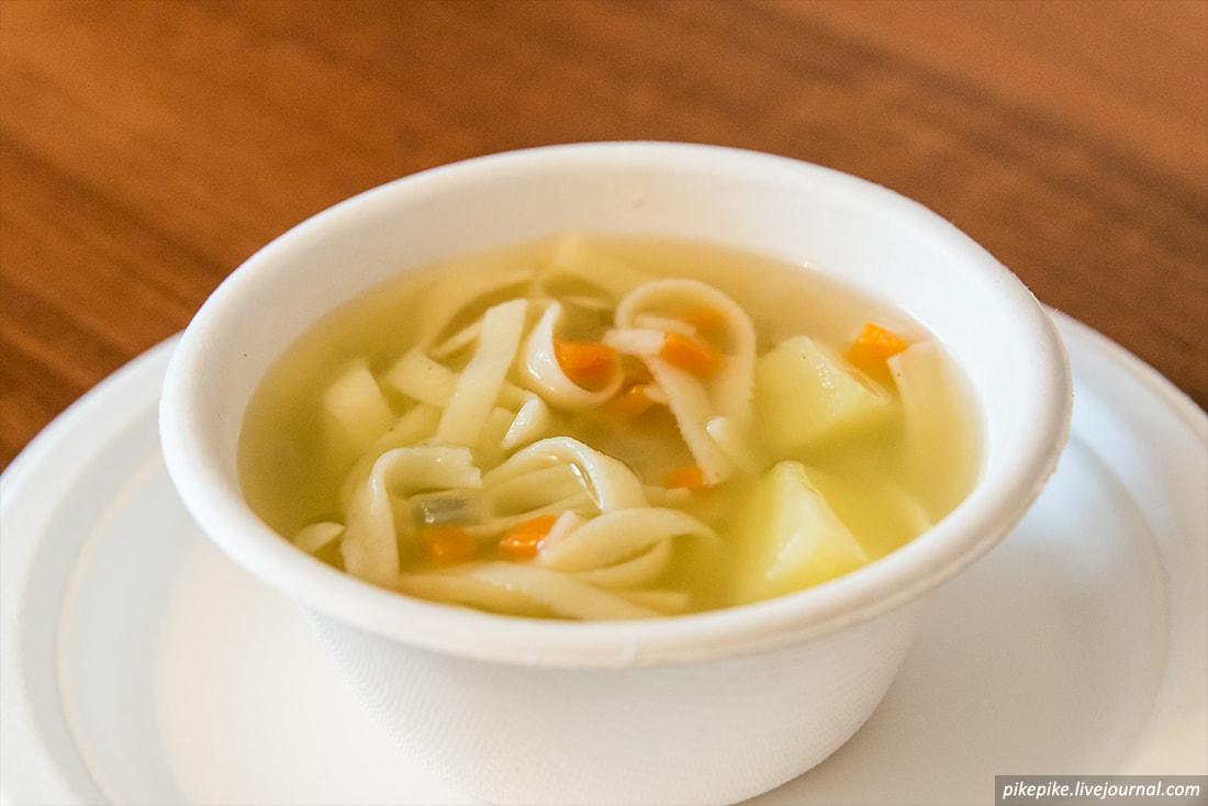 Суп крупно