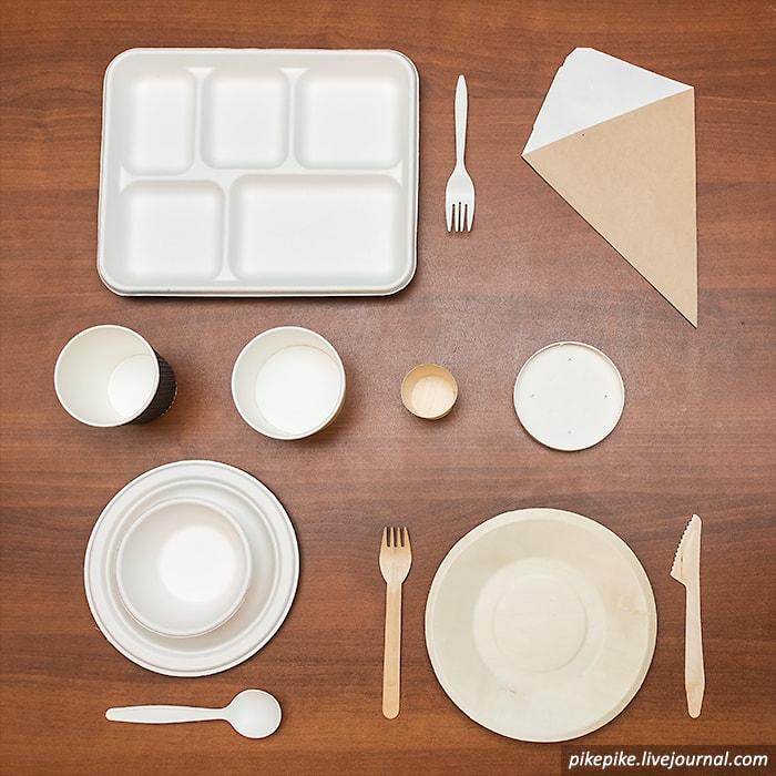 Одноразовая посуда ЭКО