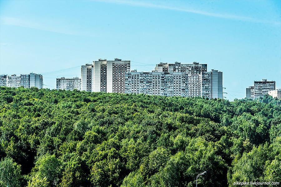 Вид с холма на усадьбу Узкое