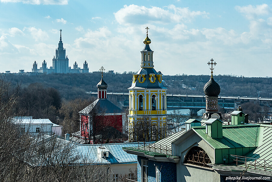 Андреевский монастырь и МГУ