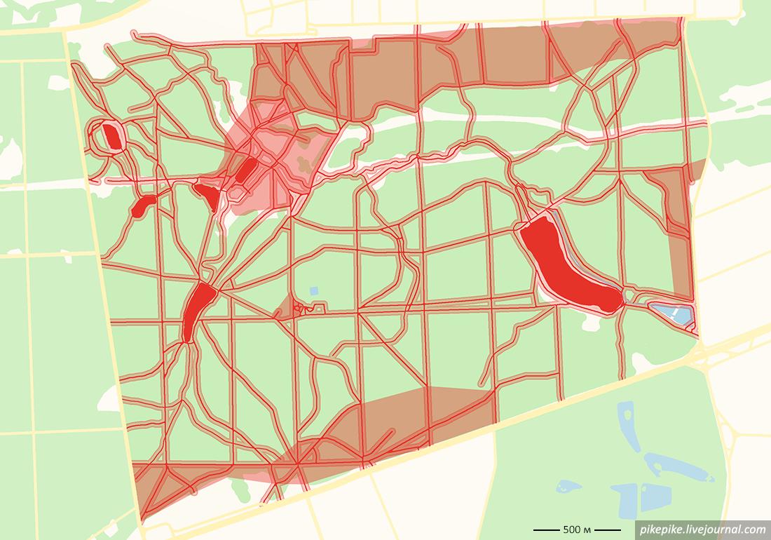 Карта Измайловского лесопарка