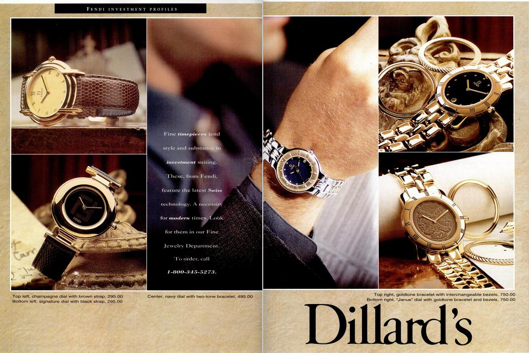 Dillards watches TM Oct 91