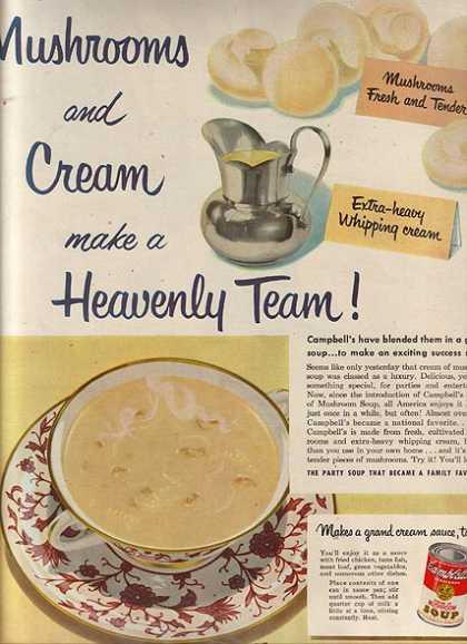 campbells cream of mushroom soup 1951