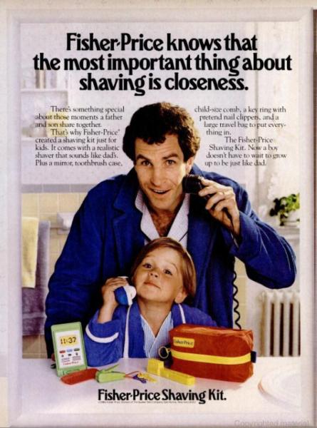 Fisher Price Shaving Kit 1986 Vintage Ads