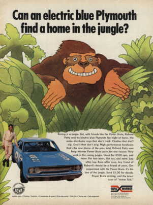 plymouth road runner ad with richard petty 1970